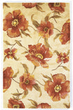 KAS Catalina 0766 Ivory Poppies Hand Tufted Area Rug