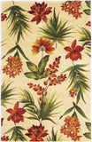 KAS Catalina 0780 Ivory Tropical Flora Hand Tufted Area Rug