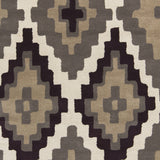 Surya Calaveras CAV-4014 Chocolate Hand Tufted Area Rug by Beth Lacefield Sample Swatch