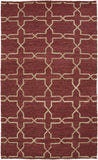 Surya Caynon CAY-7001 Burgundy Area Rug by Country Living 5' x 8'