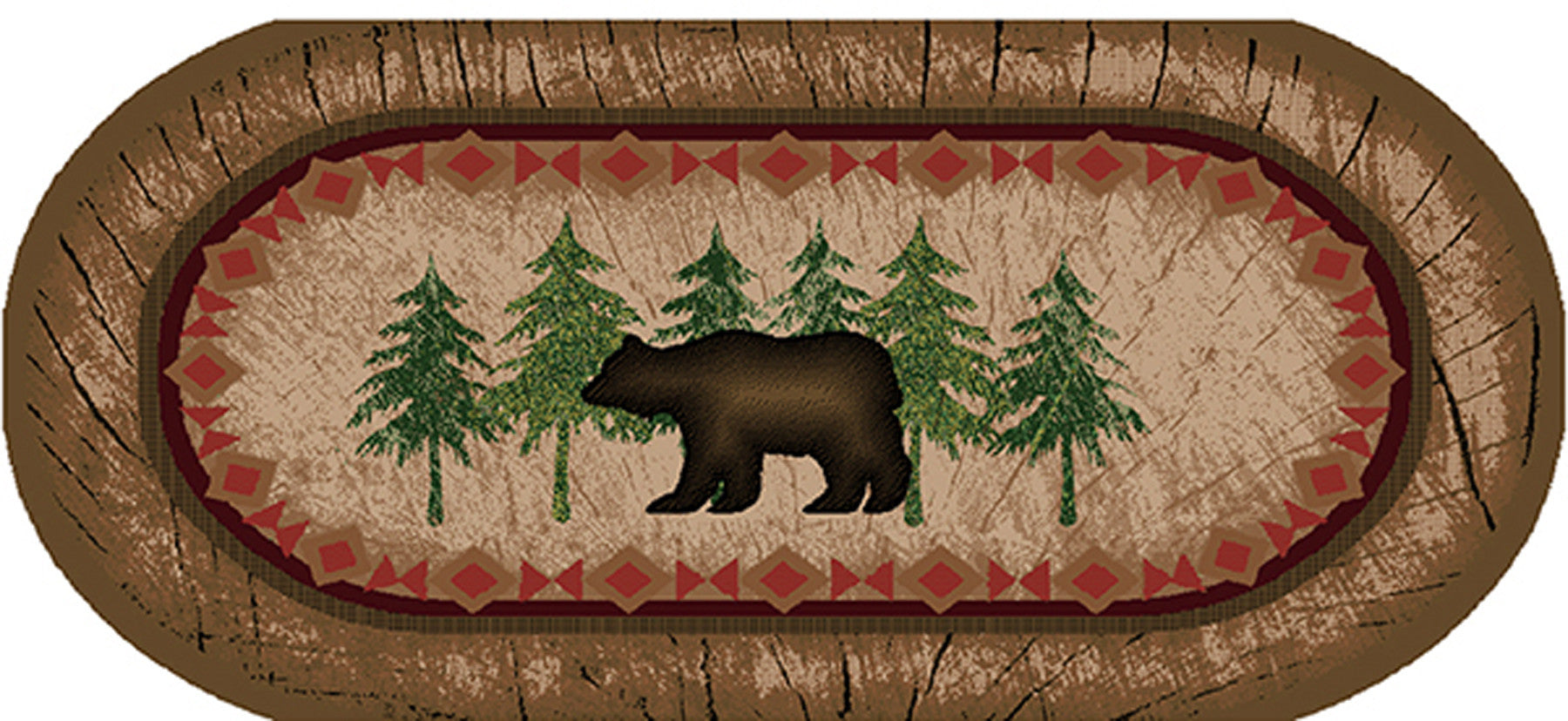 Mayberry Cozy Cabin CC5276-Birch Bear Brown Area Rug