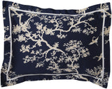 Surya The Crane CFB-2000 Blue Bedding by Florence Broadhurst
