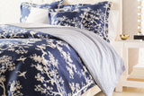 Surya The Crane CFB-2000 Blue Bedding by Florence Broadhurst Full / Queen Duvet Set