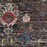 Surya Chocho CHO-9000 Black Hand Knotted Area Rug Sample Swatch