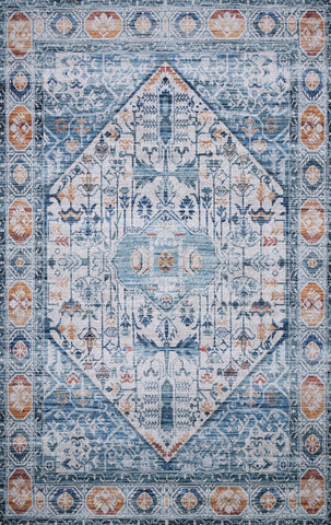 Loloi Cielo CIE-03 Ivory/Sunset Area Rug by Justina Blakeney main image