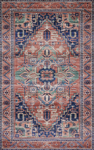 Loloi Cielo CIE-06 Coral/Multi Area Rug by Justina Blakeney main image