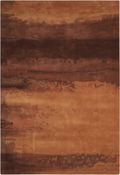 Calvin Klein Ck10 Luster Wash Amber Sw09 Copper Area Rug