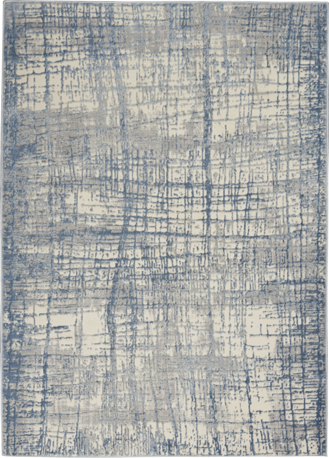 Calvin Klein CK950 Rush Ivory Blue Area Rug main image