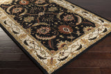 Surya Clifton CLF-1023 Black Hand Tufted Area Rug 5x8 Corner