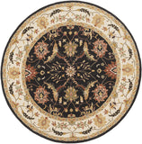 Surya Clifton CLF-1023 Black Area Rug 8' Round