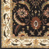 Surya Clifton CLF-1023 Black Hand Tufted Area Rug Sample Swatch