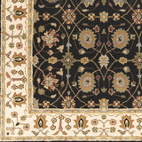 Surya Clifton CLF-1024 Black Hand Tufted Area Rug Sample Swatch
