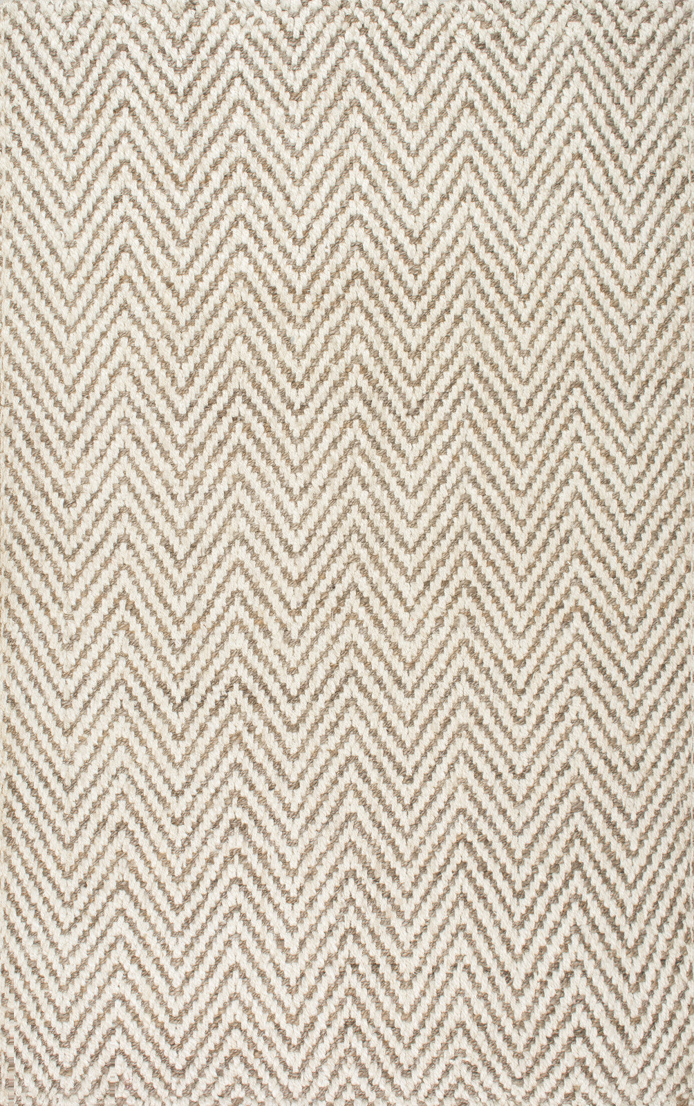 nuLOOM Jute Vania Chevron CLWA03A Ivory Area Rug main image