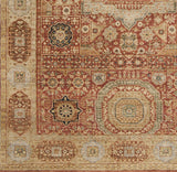 Surya Cambridge CMB-8008 Rust Hand Knotted Area Rug Sample Swatch