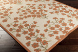 Surya Cannes CNS-5407 Rust Hand Hooked Area Rug by Paule Marrot 5x8 Corner