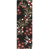Surya Cannes CNS-5410 Black Area Rug by Paule Marrot 2'6'' x 8' Runner