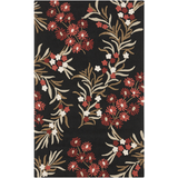 Surya Cannes CNS-5410 Black Area Rug by Paule Marrot 5' x 8'