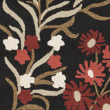 Surya Cannes CNS-5410 Black Hand Hooked Area Rug by Paule Marrot Sample Swatch