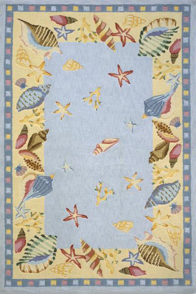 Momeni Coastal CC-04 Light Blue Area Rug main image