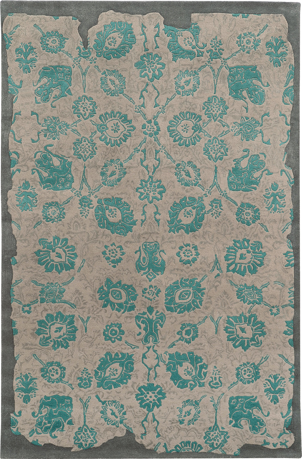 Pantone Universe Color Influence 45103 Grey/Teal Area Rug main image