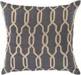 Surya Gates Glamorous Geometric COM-001 Pillow 22 X 22 X 5 Down filled