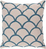 Surya Meadow Overlapping Oval COM-007 Pillow 18 X 18 X 4 Down filled