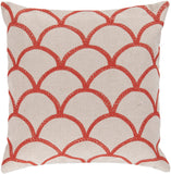 Surya Meadow Overlapping Oval COM-009 Pillow 18 X 18 X 4 Down filled