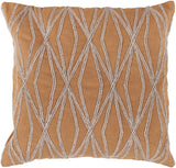 Surya Dominican Daring Diamond COM-024 Pillow 18 X 18 X 4 Down filled