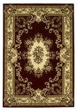 KAS Corinthian 5308 Red/Ivory Aubusson Machine Woven Area Rug