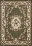 KAS Corinthian 5312 Green/Ivory Aubusson Machine Woven Area Rug