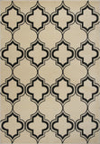 KAS Corinthian 5370 Ivory/Black Arabesque Machine Woven Area Rug