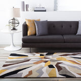 Surya Cosmopolitan COS-9200 Gold Hand Tufted Area Rug Roomscene