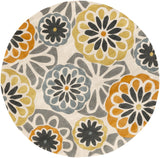 Surya Cosmopolitan COS-9206 Burnt Orange Area Rug 8' Round