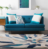 Surya Cosmopolitan COS-9278 Bright Blue Hand Tufted Area Rug Roomscene