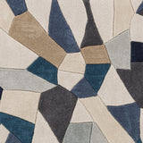 Surya Cosmopolitan COS-9278 Bright Blue Hand Tufted Area Rug Sample Swatch