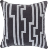 Surya Velocity Charming Key Print COV-001 Pillow by Candice Olson 22 X 22 X 5 Down filled
