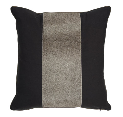 Auskin Luxury Skins Cushion Cow 30x50cm Midnight Pewter