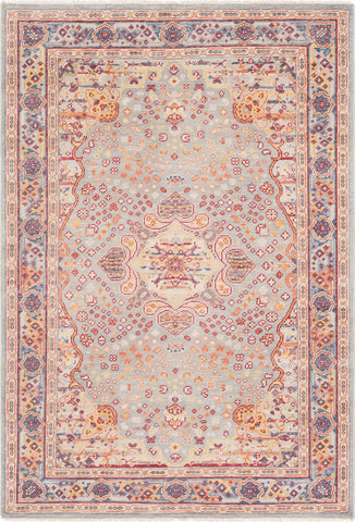 Surya Cappadocia CPP-5023 Sage Light Gray Dark Red Saffron Burnt Orange Charcoal Denim Khaki Area Rug main image
