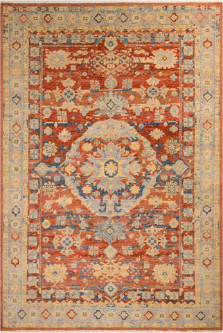 Surya Cappadocia CPP-5026 Rust Clay Light Gray Medium Wheat Cream Navy Denim Sage Area Rug main image