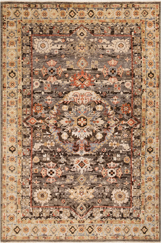 Surya Cappadocia CPP-5029 Taupe Cream Camel Tan Black Light Gray Denim Area Rug main image