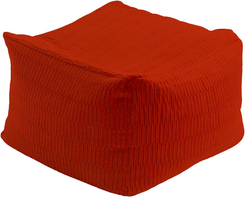 Surya Caplin CPPF-003 Red Pouf main image