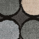Surya Concepts CPT-1738 Black Area Rug Sample Swatch