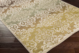 Artistic Weavers Crete Elise Green Multi Area Rug Corner Shot