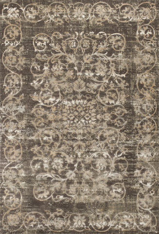 KAS Crete 6508 Taupe Courtyard Machine Woven Area Rug