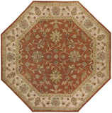 Surya Crowne CRN-6002 Rust Area Rug 8' Octagon