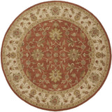 Surya Crowne CRN-6002 Rust Area Rug 8' Round