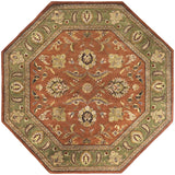 Surya Crowne CRN-6019 Rust Area Rug 8' Octagon