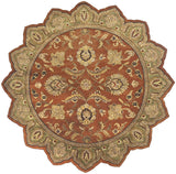 Surya Crowne CRN-6019 Rust Area Rug 8' Star