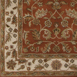 Surya Crowne CRN-6029 Rust Hand Tufted Area Rug Sample Swatch