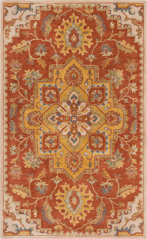 Surya Crowne CRN-6032 Clay Mustard Olive Taupe Navy Medium Gray Dark Brown Camel Area Rug main image